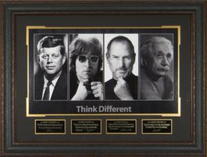 Think Different Masterpiece Collage feat JFK, John Lennon, Steve Jobs, and Albert Einstein