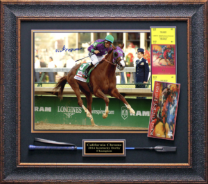 "Victor Espinoza Hand Signed ""Riding American Pharaoh"" Masterpiece Collage"